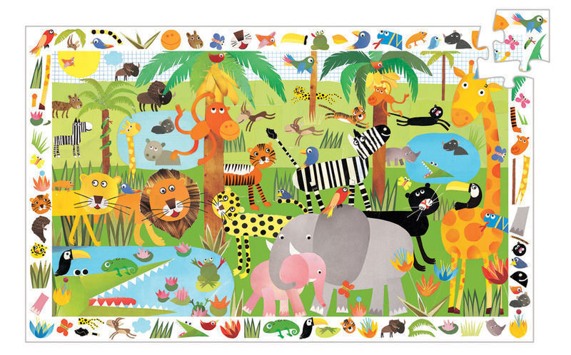 Image of Djeco Jungle Observation Puzzle 35 Pieces