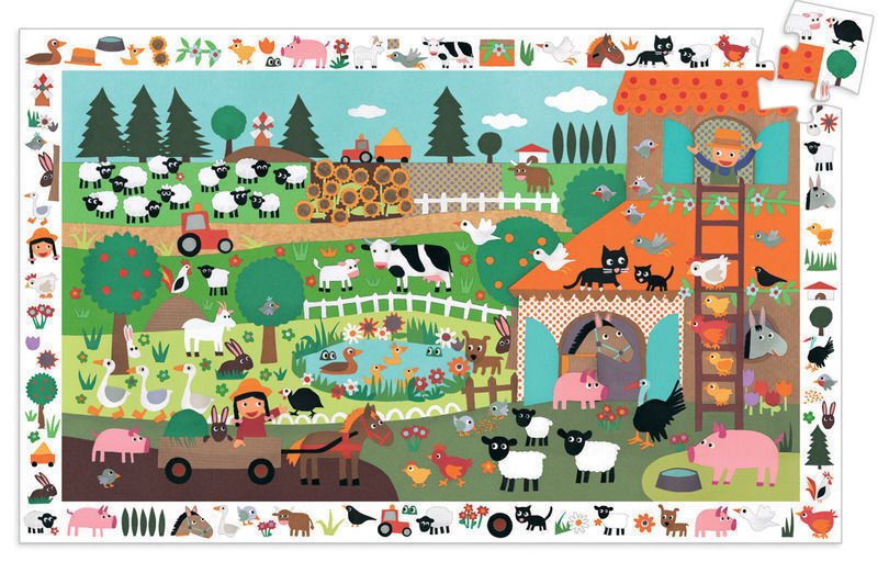 Image of Djeco Observation Puzzle The Farm (35 Pieces)