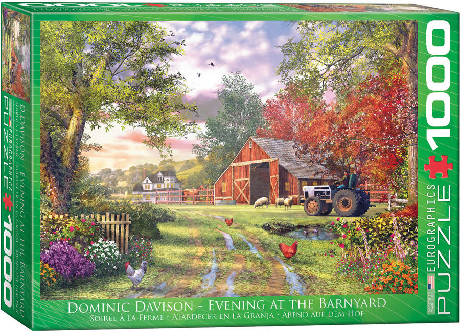 Image of Eurographics Evening At The Barnyard Puzzle 1000pc