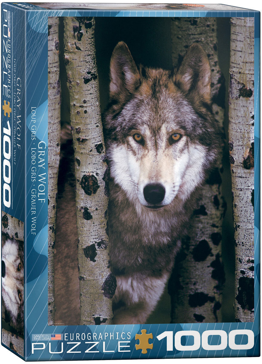 Image of Eurographics Grey Wolf Puzzle 1000pce