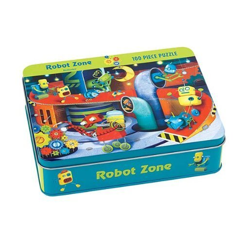 Image of Mudpuppy Robot Zone Puzzle 100pc