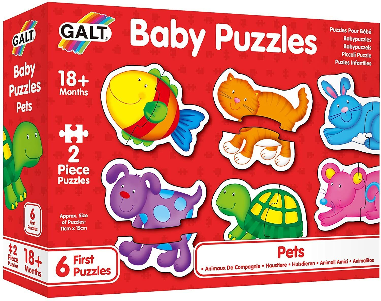 Image of Galt Baby Puzzles Pets 2pc