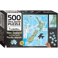 Hinkler - New Zealand Map Puzzle 500pc