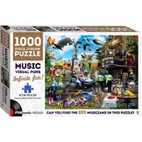 Hinkler - Puntastic Music Puzzle 1000pc