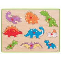 Bigjigs - Dinosaur Lift Out Puzzle 9pc
