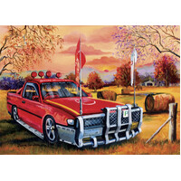 Blue Opal - Jenny Sanders Red Ute in the Bush Puzzle 1000pc