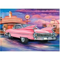 Blue Opal - Jenny Sanders Pink Caddy at the Carhop Diner Puzzle 1000pc