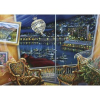Blue Opal - Esther Shohet Night Breeze Puzzle 1000pc