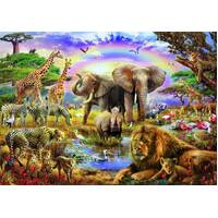 Educa - Watering Hole Under the Rainbow Puzzle 3000pc