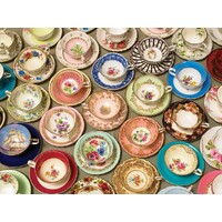 Cobble Hill - Cups and Saucers Large Piece Puzzle 275pc