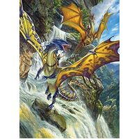 Cobble Hill - Waterfall Dragons Puzzle 1000pc