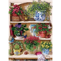 Cobble Hill - Flower Cupboard Puzzle 500pc
