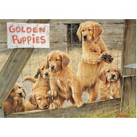 Cobble Hill - Golden Puppies Puzzle 500pc