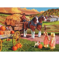Cobble Hill - Hay Wagon Large Piece Puzzle 275pc