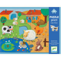 Djeco - Tactile Farm Puzzle (20pc)