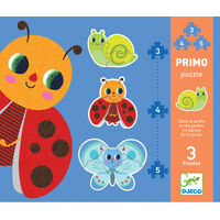 Djeco - Primo Puzzle In The Garden 3, 4, 5pcs