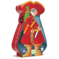 Djeco - The Pirate & His Treasure Silhouette Puzzle (36pce)