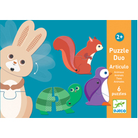 Djeco - Duo Animals Puzzle