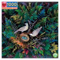 eeBoo - Birds in Fern Puzzle 1000pc