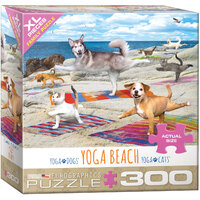 Eurographics - Yoga Beach Large Piece Puzzle 300pc