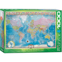 Eurographics - Map of the World Puzzle 1000pc