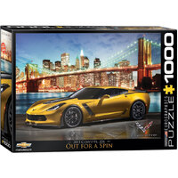 Eurographics - Corvette in Manhattan Puzzle 1000pce