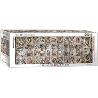 Eurographics - Sistine Chapel Ceiling Panoramic Puzzle 1000pc