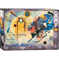 Eurographics - Kandinsky Yellow Red Blue Puzzle 1000pc