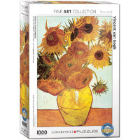 Eurographics - Van Gogh, Twelve Sunflowers Puzzle 1000pc