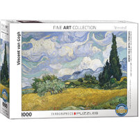 Eurographics - Van Gogh Wheat Field with Cypresses Puzzle 1000pce