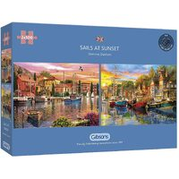 Gibsons - Sails at Sunset Puzzle 2 x 500pc