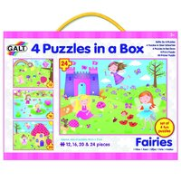 Galt - 4 Puzzles in a Box -Fairies