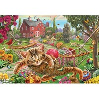 Holdson - Gallery 4 - Cat on Farm Large Piece Puzzle 300pc