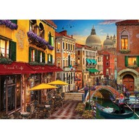 Holdson - Of Land & Sea - Venice Canal Cafe Puzzle 1000pc