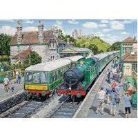 Holdson - At the Station, Corfe Castle Large Piece Puzzle 500pc
