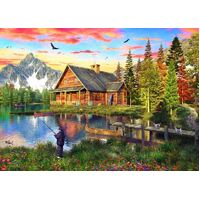 Holdson - Sunsets, The Fishing Cabin Puzzle 1000pc