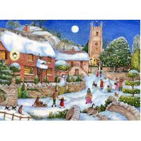 Holdson - English Village - Starry Night Large Piece Puzzle 500pc