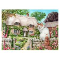 Holdson - Cottage Cats - Master of All He Surveys Large Piece Puzzle 500pc