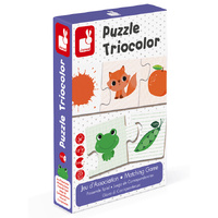 Janod - Triocolor Puzzle 30pc