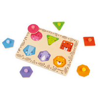Janod - Geo Shapes Jungle Animals Puzzle