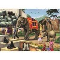 Jumbo - A Day at the Zoo Puzzle 1000pc