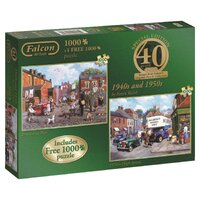 Jumbo - 40th Anniversary 1940's and 1950's Puzzle (2 pack) 1000pc
