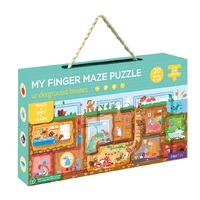 mierEdu - My Finger Maze Puzzle - Underground Houses 12pc