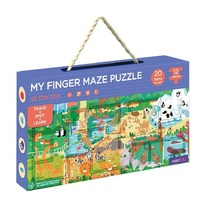 mierEdu - My Finger Maze Puzzle - At The Zoo 12pc