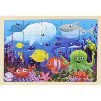 Masterkidz - Wooden Jigsaw Puzzle - Sea Creatures 20pc
