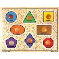 Melissa & Doug - Large Shapes Jumbo Knob Puzzle - 8pc