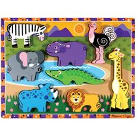 Melissa & Doug - Safari Animals Chunky Puzzle - 8pc