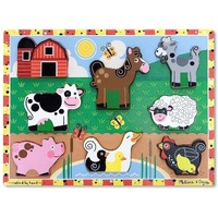 Melissa & Doug - Farm Animals Chunky Puzzle - 8pc
