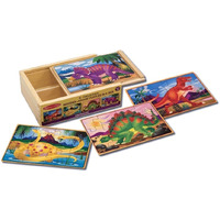 Melissa & Doug - Dinosaurs Puzzles in a Box 12pc
