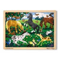 Melissa & Doug - Frolicking Horses Jigsaw Puzzle - 48pc